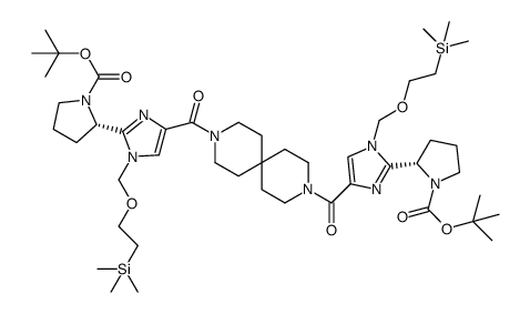 (S,S)-2-(4-(9-(1-(2-TRIMETHYLSILANYLETHOXYMETHYL)-1H-IMIDAZOIE-4-CARBONYL)-3,9-DIAZASPIRO[5.5]UNDECANE-3-CARBONYL)-1-(2-TRIMETHYLSILANYLETHOXYMETHYL)-1H-IMIDAZOI-2-YL)PYRROLIDINE-1-CARBOXYLIC ACID TERT-BUTYL ESTER
