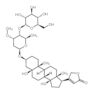 3-[(3S,5S,10R,13R,14S,17R)-3-[(2R,5R)-6-[[(3R,6S)-4,6-dihydroxy-2-methyloxan-3-yl]oxymethyl]-3,5-dihydroxy-4-methoxyoxan-2-yl]oxy-5,14-dihydroxy-10,13-dimethyl-2,3,4,6,7,8,9,11,12,15,16,17-dodecahydro-1H-cyclopenta[a]phenanthren-17-yl]-2H-furan-5-one