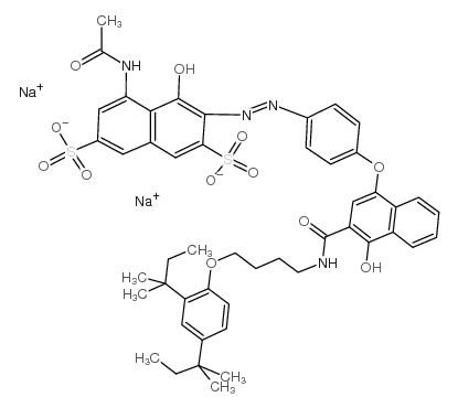 5-ACETAMIDO-3-[4-[3-[4-(2,4-DI-T-PENTYLPHENOXY)BUTYLCARBAMOYL]-4-HYDROXY-1-NAPHTHYLOXY]PHENYLAZO]-4-HYDROXY-2,7-NAPHTHALENEDISULFONIC ACID DISODIUM SALT